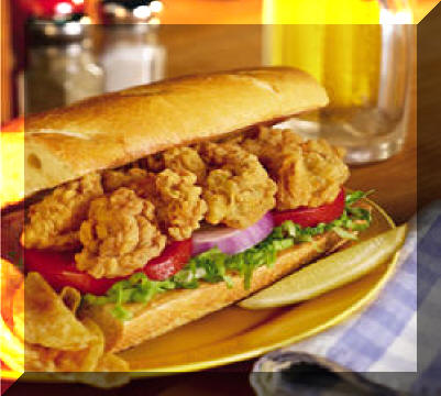 The House Chef - Fried Oyster Po-Boy